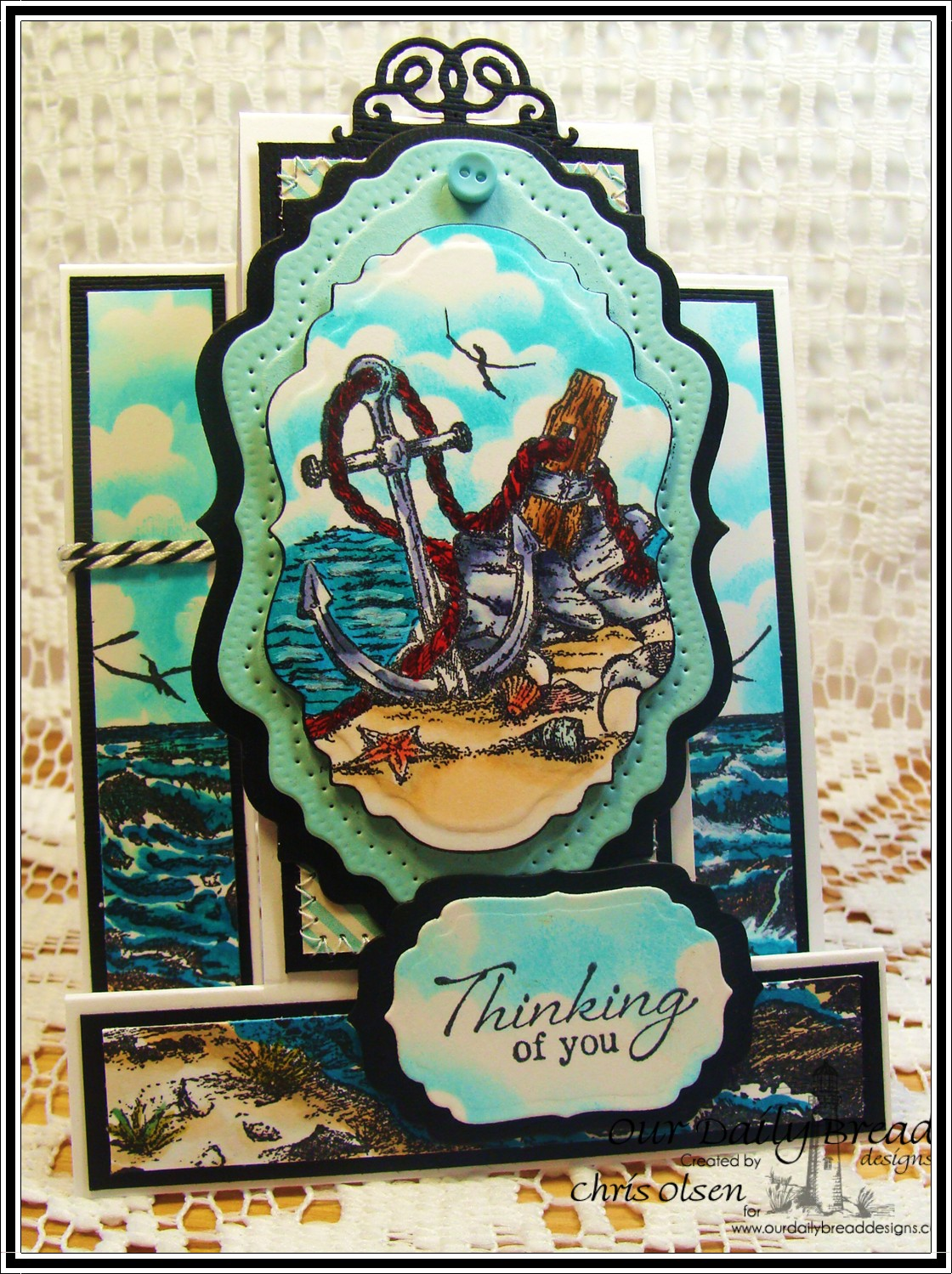Stamps - Our Daily Bread Designs Anchor the Soul, The Mighty Sea, ODBD Custom Vintage Labels Die, ODBD Custom Vintage Flourish Pattern Die