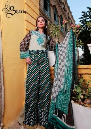 Latest Shariq Textile's Libas Crinkle Lawn Collection