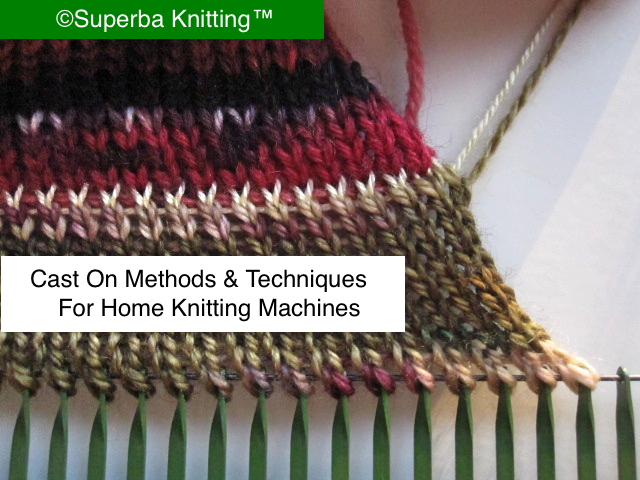 Knitting Cast On Techniques : Superba knitting review of cast on methods for home