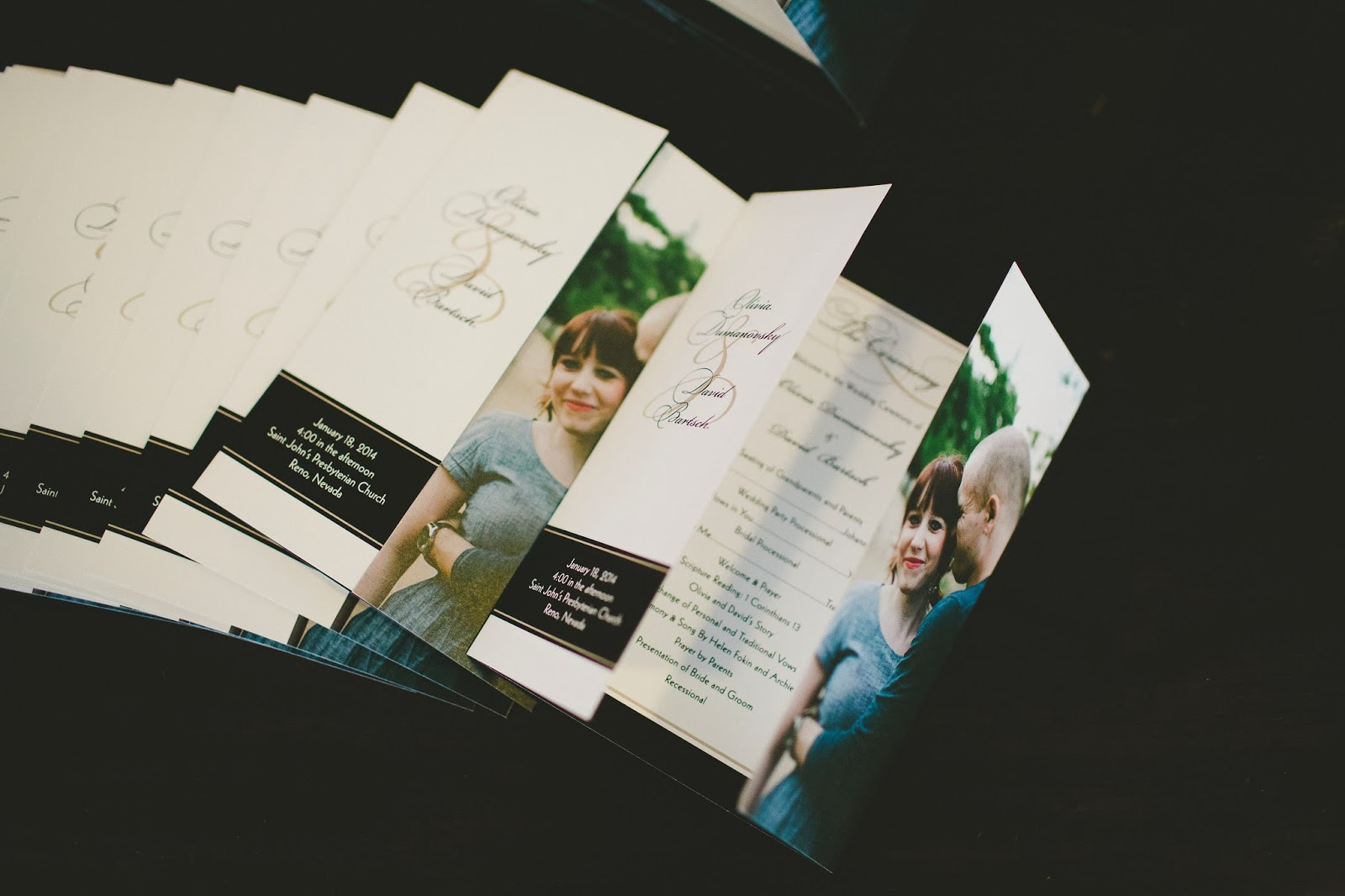 Wedding ceremony programs // Bethany Carlson Photography // Take the Cake Event Planning