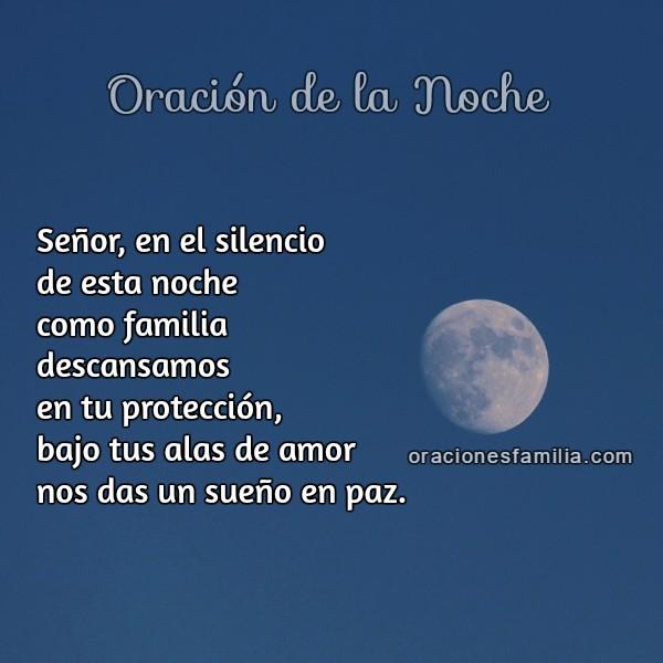 Oración corta de buenas noches con protección de Dios, plegaria corta de la noche, Oraciones de la familia por Mery Bracho.