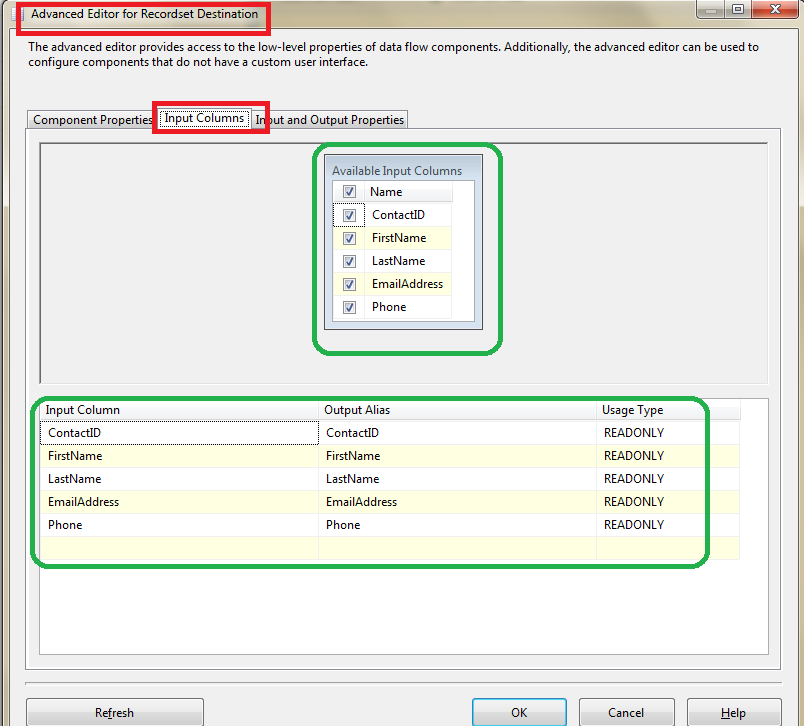 How to Loop through each record in a SSIS in-memory ADO Recordset Table 5