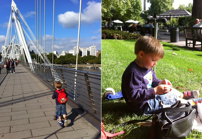 Henry at Embankment in London