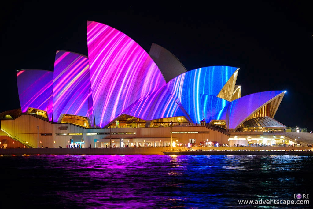 Philip Avellana, Australian Landscape Photographer, Vivid Sydney, Event, CBD, NSW, New South Wales, Australia, lighting, long exposure, 2013, light pattern, Sydney Opera House, blue, purple