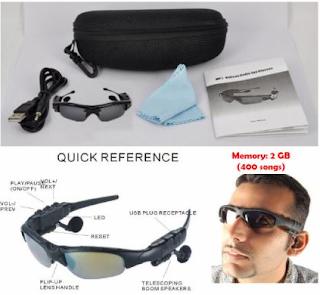Jual Kacamata MP3 Murah Keren Syar'i + Murottal Al-Qur'an