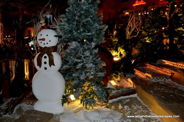 Frosty the snowman at Souk Festive Market