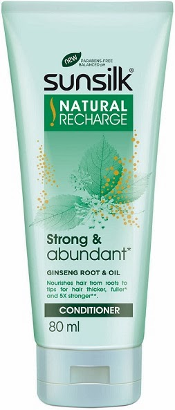 Sunsilk Natural Recharge Conditioner strong and abundant ginseng root  80ml
