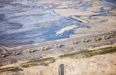 Alberta Tar Sands dumptruck conga line
