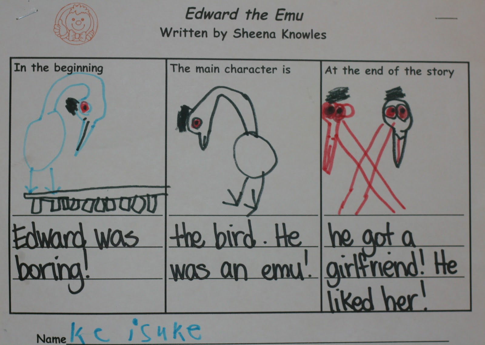 Edward The Emu Craft Activities