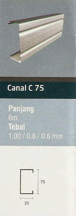 IGGI CANAL C 75 | JUAL RANGKA ATAP BAJA RINGAN IGGI TRUSS