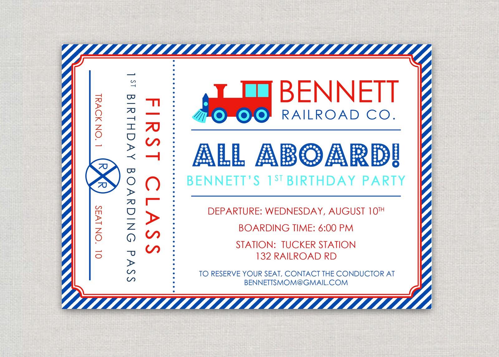 Train Invitations 1700 Train Announcements Invites | Party Invitations ...