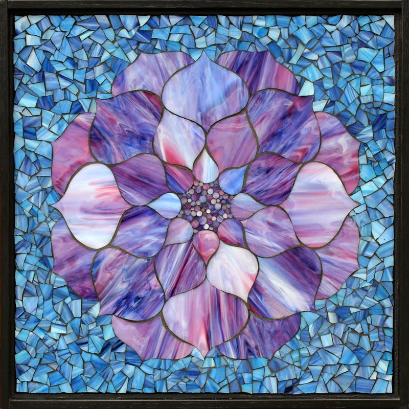 Purple Lotus Flower on Blue