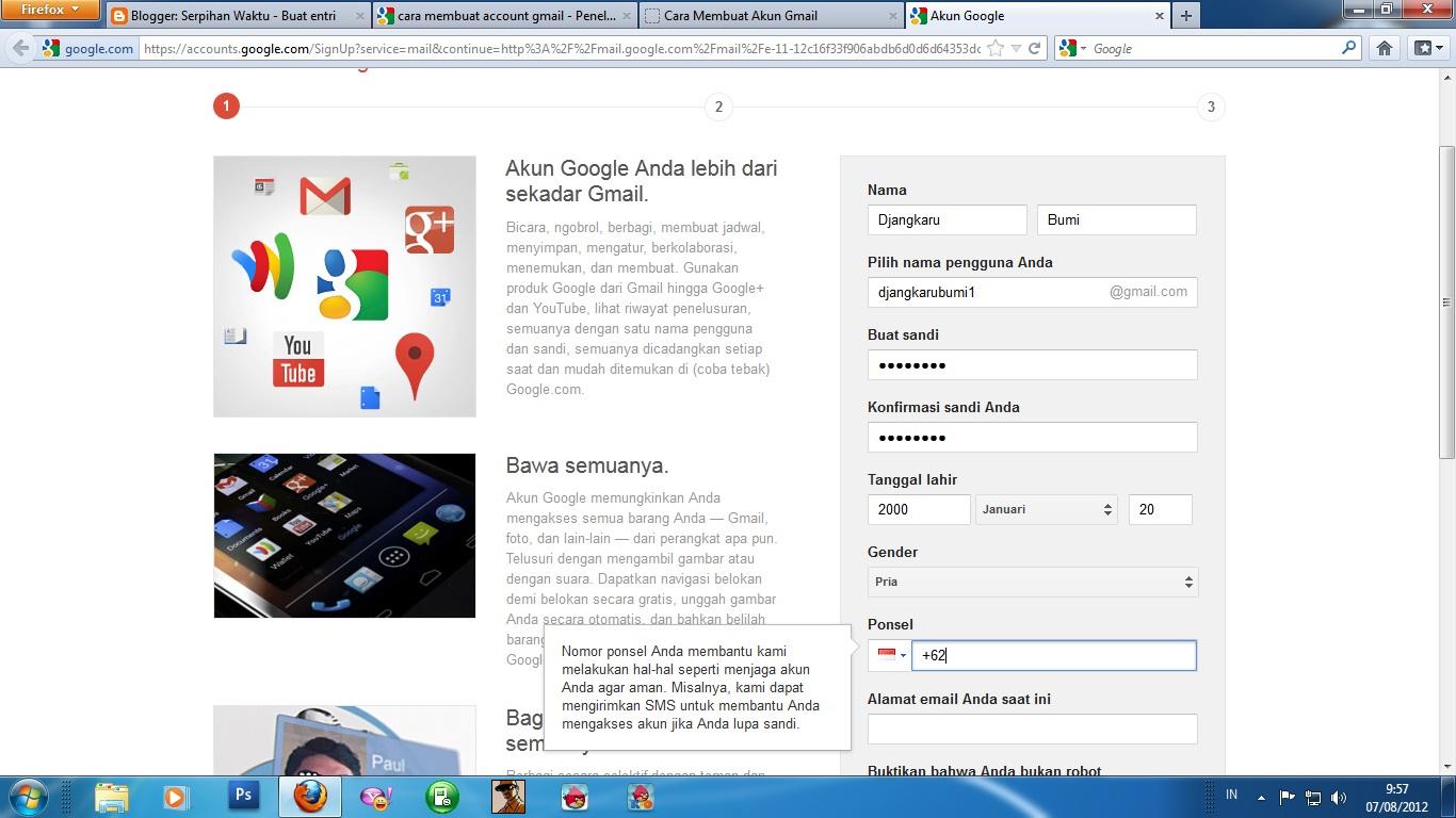 Cara Membuat Account Gmail Baru BERBAGI PENGETAHUAN