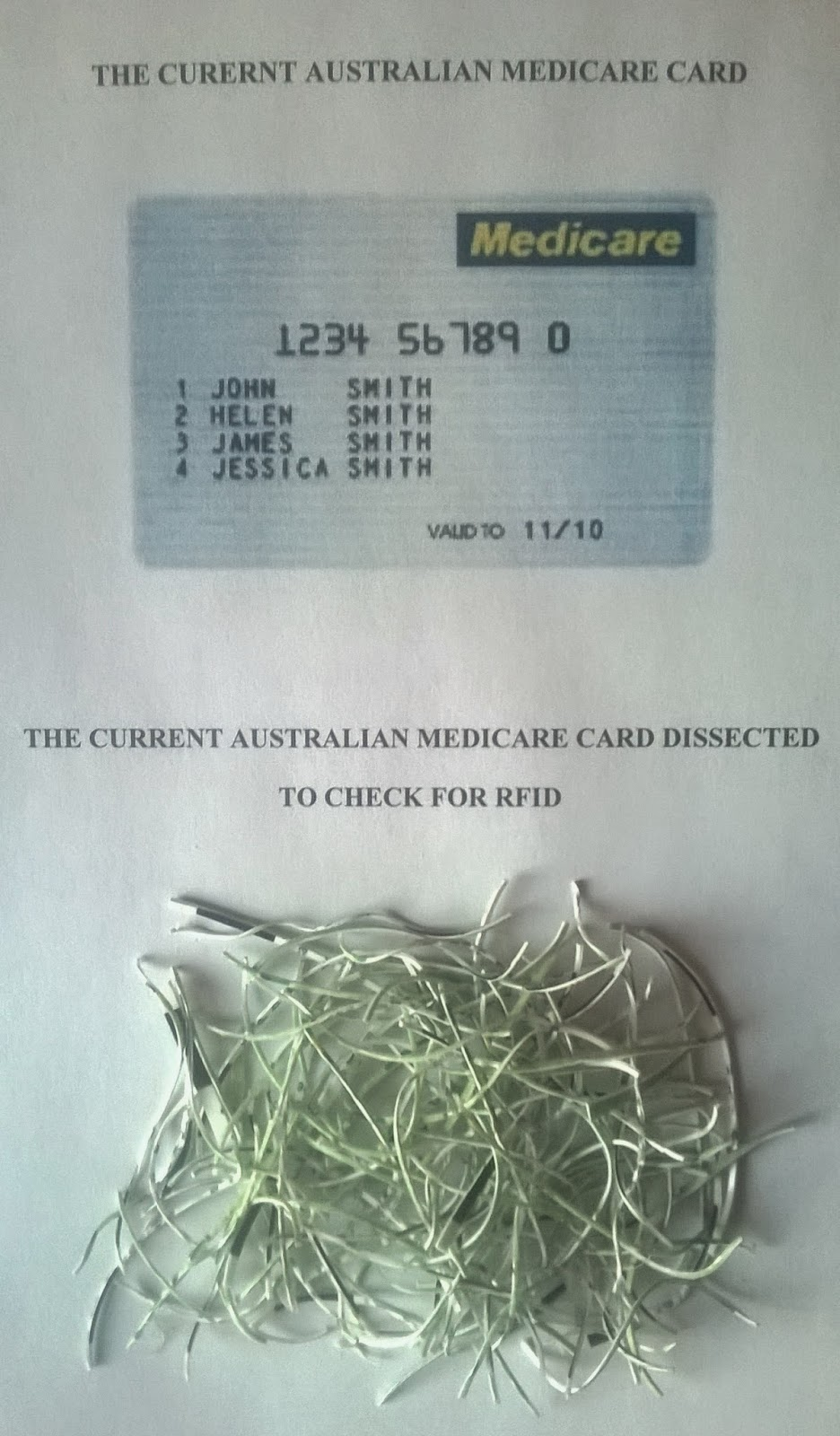 My Medicare Card Was Stolen The Sample Card Has An Expiry Date Of 2015