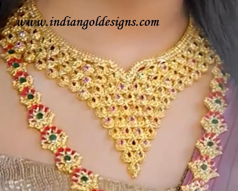 Gold and Diamond jewellery designs: joy alukkas polki diamond necklace