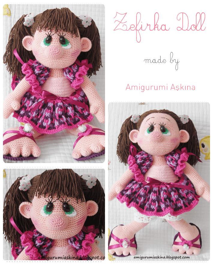 Niloya Amigurumi Free Pattern Doll Oyuncak Bebek : Amigurumi Zefirka Bebek Tarifi-Amigurumi Free Pattern ...