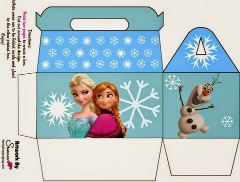 Free Printable Lunch Box for your Frozen Party.