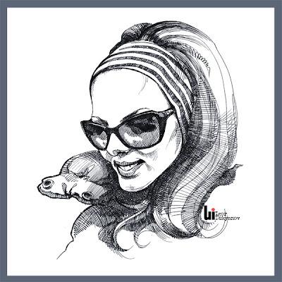 Portrait gratuit (femme avec lunettes de soleil)