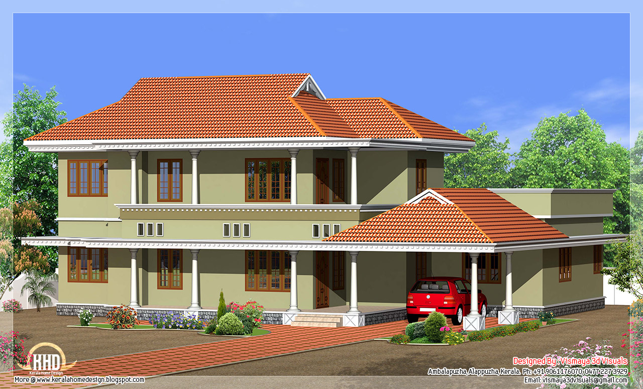 Simple kerala style villa in 2250 kerala house for Minimalist house kerala