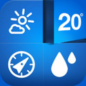 Weathercube - Gestural Weather App Icon Logo By Appsuperb - FreeApps.ws