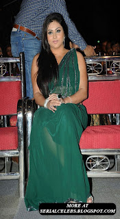 Namitha in green Saree