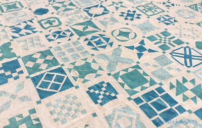 Dear Jane Quilt - Japanese metallic fabrics