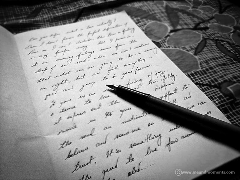 cursive handwriting, writing with fountain pain, fountain pen,