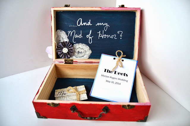 Flashback Summer- My Wedding: Bridesmaid Boxes DIY Tutorial