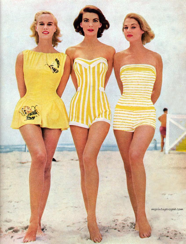 Beautiful Women's Swimwear Fashion in the 1950's ~ vintage ...
