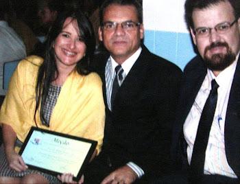 Pr.Antônio, Pr. Paulo e Pra.Marta Lança recebendo Moção Honrosa no Município de Santa Luzia
