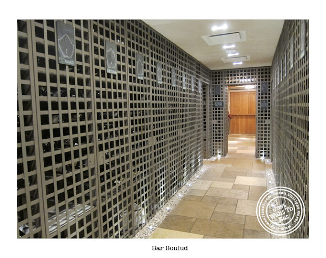 Image of Wine cellar of Bar Boulud in NYC, New York