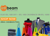 Infibeam Rs. 100 off & Rs. 100 Cashback on Rs. 1600 with Mobikwik Wallet  : BuyToEarn