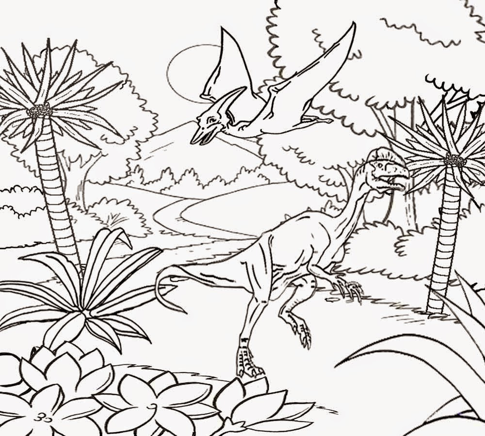Free Coloring Pages Of Dilophosaurus