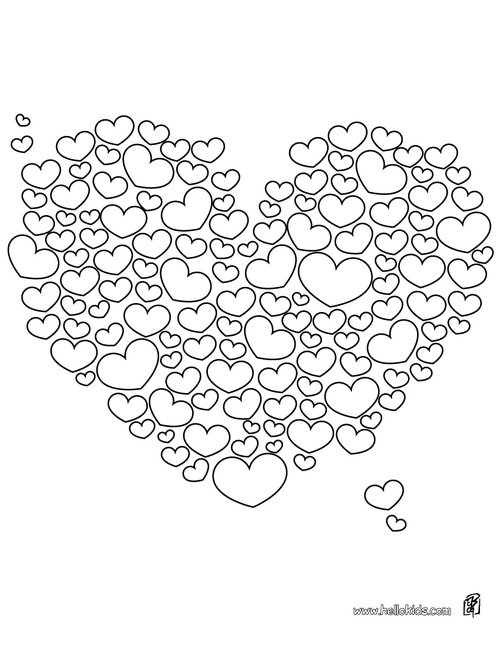 Free Valentines Heart Coloring Pages title=