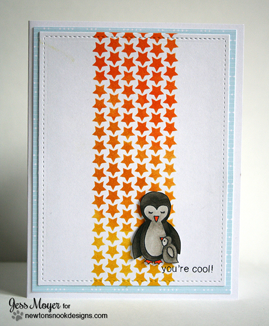 You're Cool Penguin Card by Jess Moyer | Wild Child Stamp set by Newton's Nook Designs