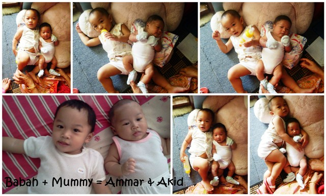 Babah + mummy = Ammar & Akid