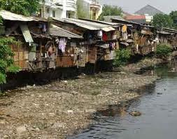 Pemukiman padat dan kumuh, salah satu bentuk aglomerasi di perkotaan