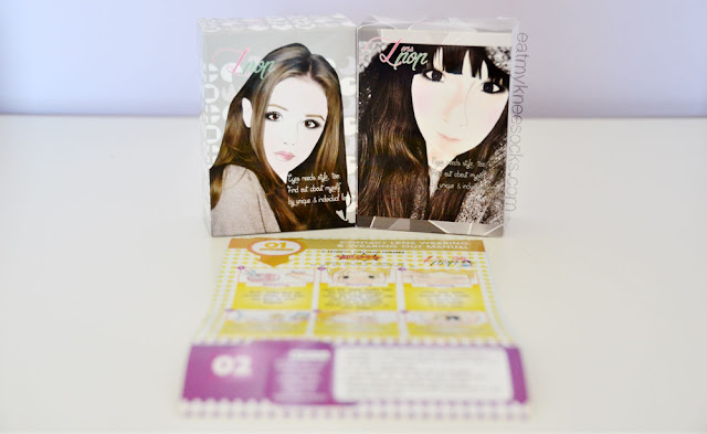Klenspop's circle lenses come in cute illustrated boxes with a circle lens instructions and guide manual.