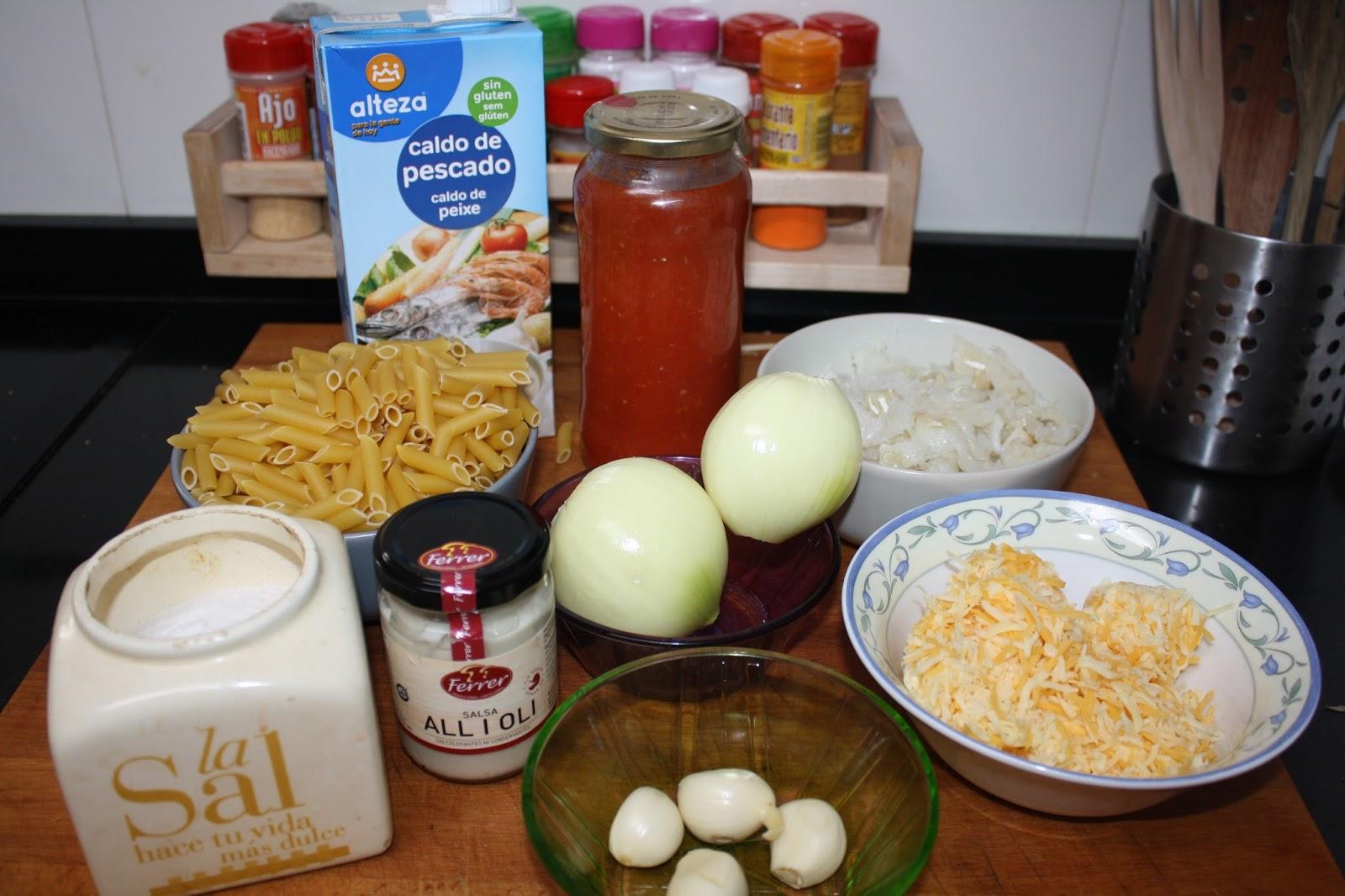 Cocina con rachel macarrones con bacalao y alioli for Racholas cocina