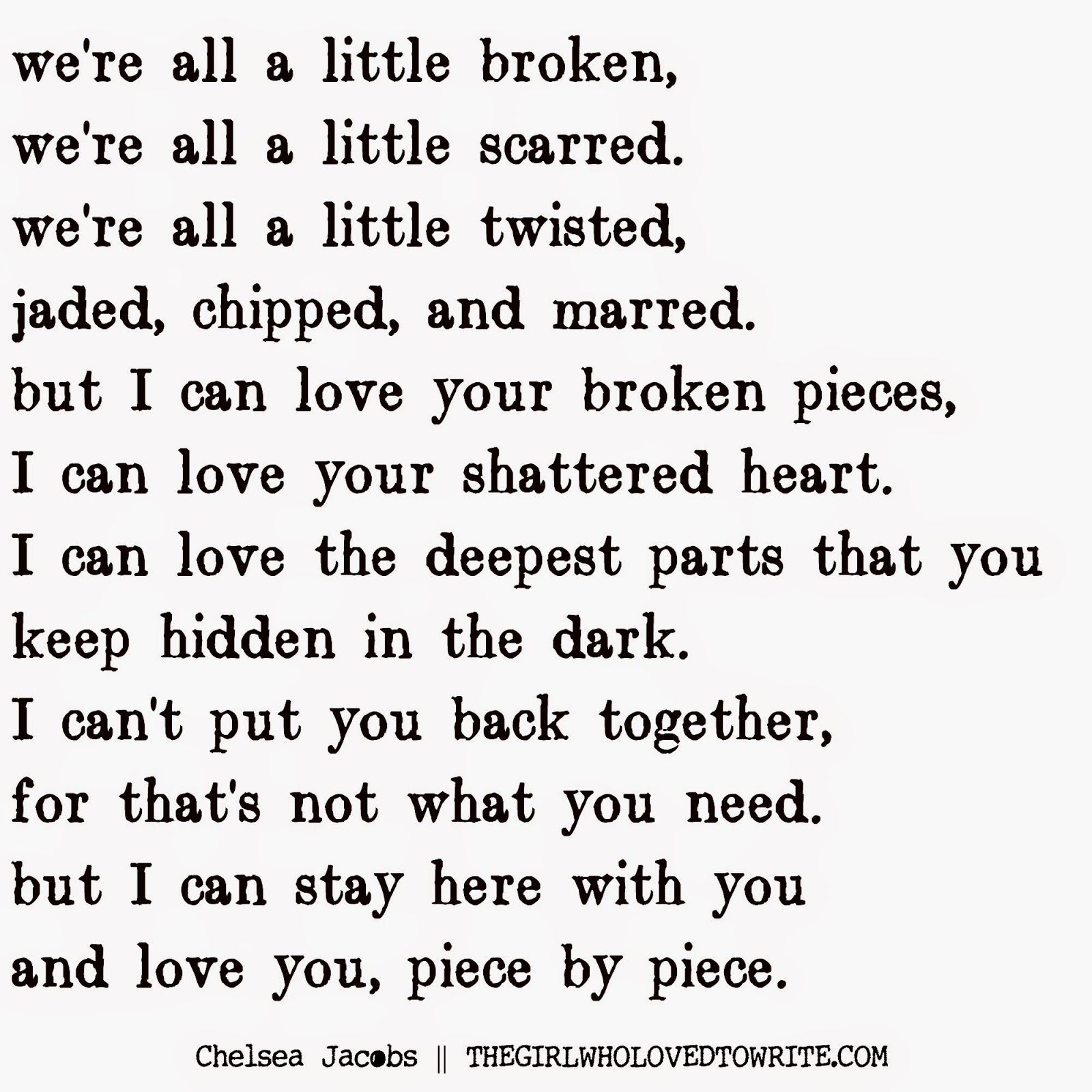 piece by piece poem
