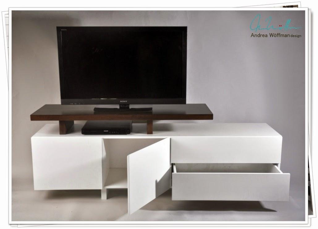 Amoblamientos y productos andrea w ffman mueble tv lcd for Muebles melamina