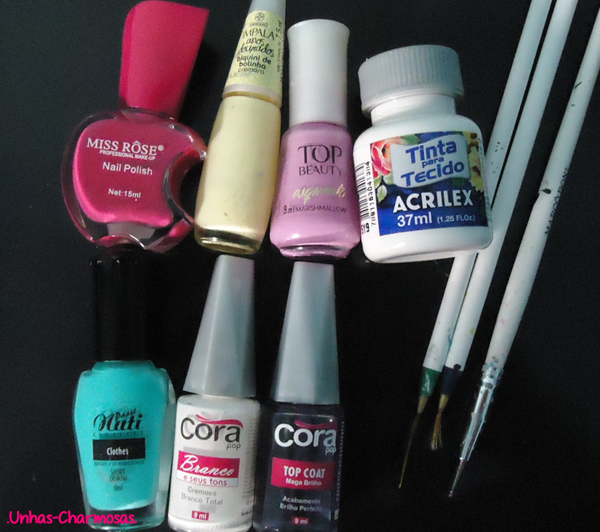mix and match, mix and match nails, mix and match unhas, nail art, nail art floral, nail art fofa, nail art listras, unhas delicadas, unhas fofas, unhas mix n' match,