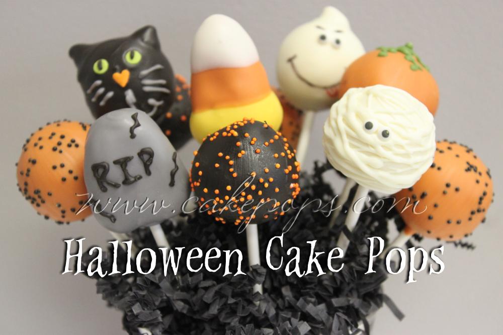 Halloween Cake Pops! Ghosts, Pumpkins, Eyeballs, Black Cats, Candy ...