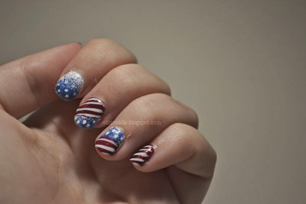 Patriotic 4th of July Nail Art by Elins Nails