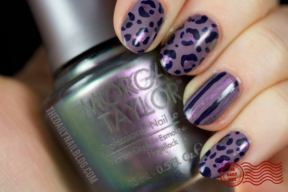 Morgan Taylor Glam Rock nail art