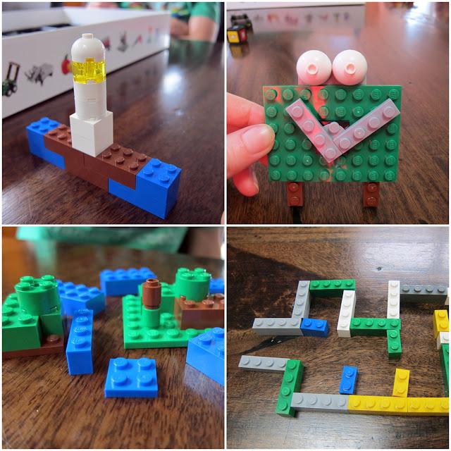 LEGO Creationary lighthouse, alarm clock, islands, maze