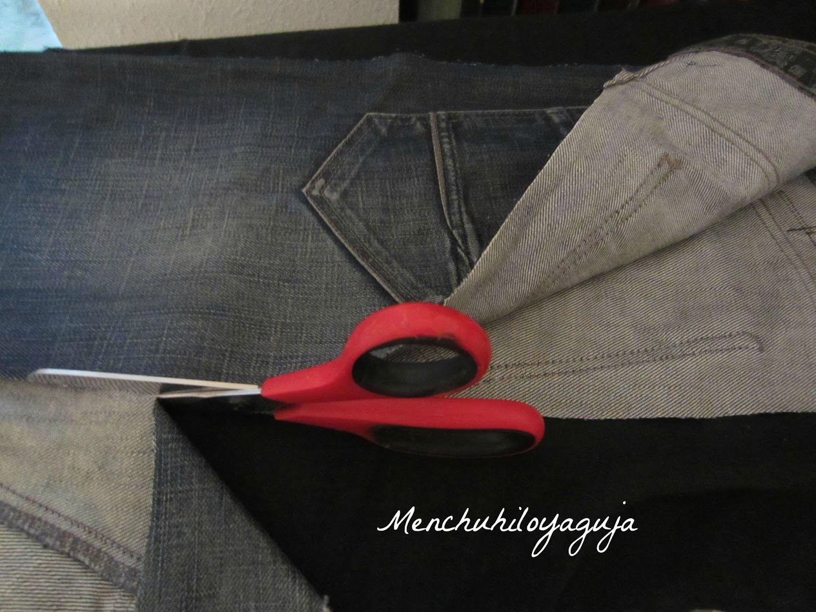 Patrones de costura funda de sombrilla con jeans for Fundas para sombrillas