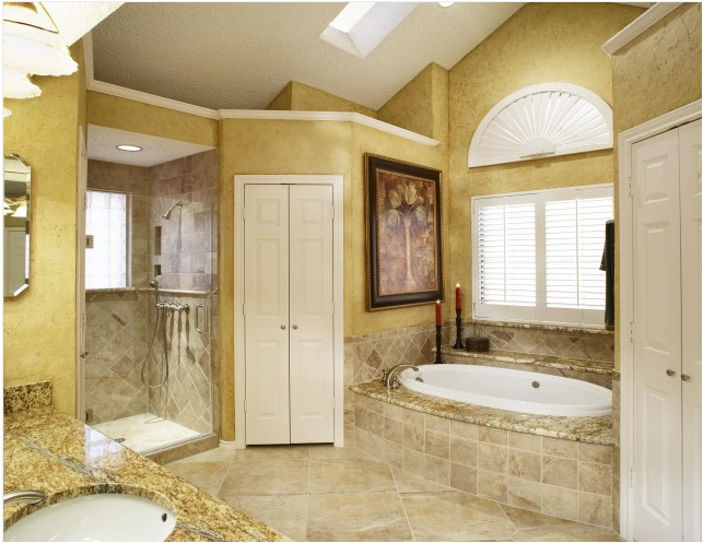 click the image to enlarge the images and find your ideas by looking at the images below about tuscan bathroom ideas - Tuscan Bathroom Design