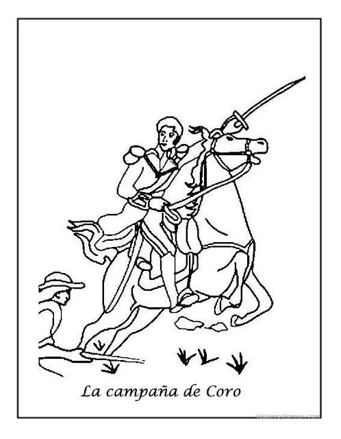 Dibujos para colorear de simon bolivar en caballo  Imagui