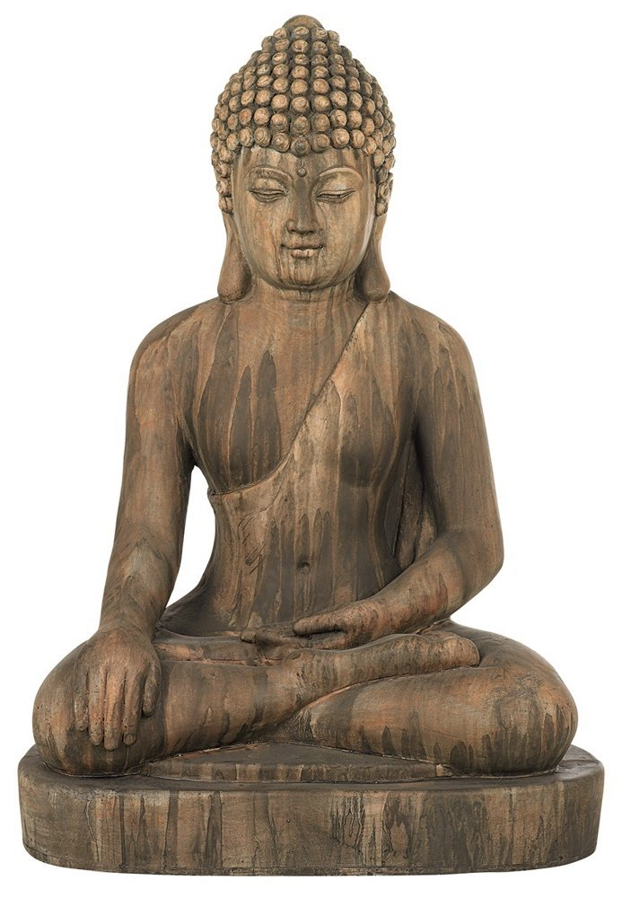 sitting buddha garden statue garden buddha statues. Black Bedroom Furniture Sets. Home Design Ideas
